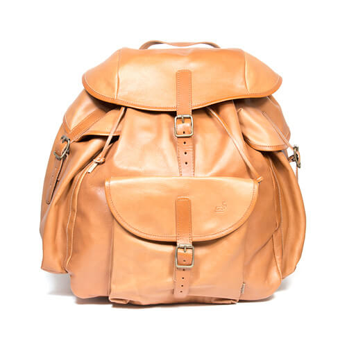 Råstojaure leather backpack