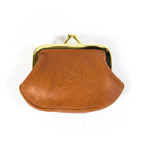Leather button purse 1