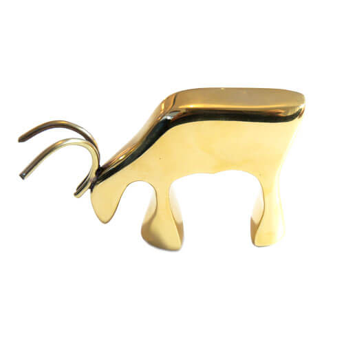 Reindeer figure in brass