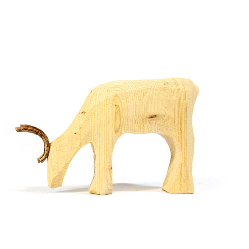 Reindeer figure in wood large