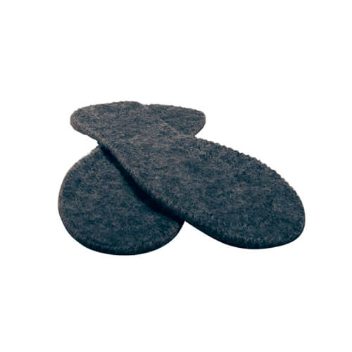 Felted wool insole