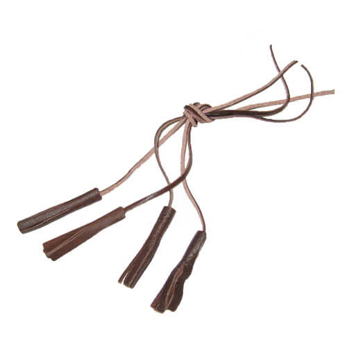 Leather tassels long 1