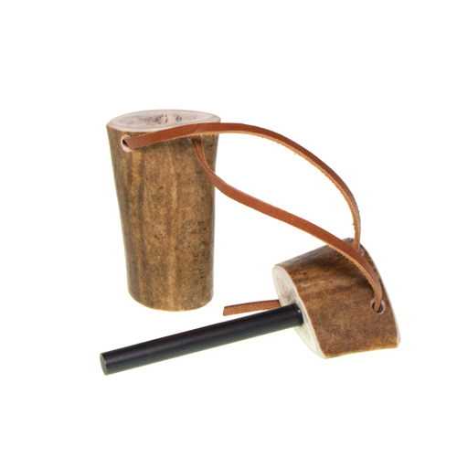 Jukka fire steel stick in reindeer antler case 2