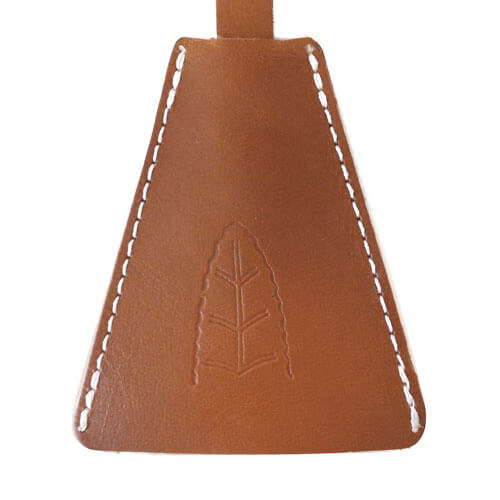 Leather keychain olle 2